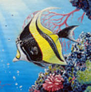 Moorish Idol Art Print