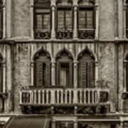 Moorish Style Windows Venice Monotone_dsc1450_02282017 Art Print