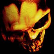 Morbid Decaying Skull Art Print