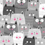 More Cats Art Print