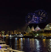 More Fireworks At Newcastle Quayside On New Year's Eve Art Print