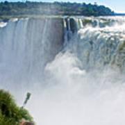 More Waterfalls At Devil's Throat In Iguazu Falls National Park-  Art Print