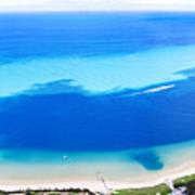 Moreton Island Aerial View Art Print
