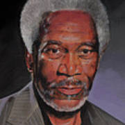 Morgan Freeman Portrait Art Print