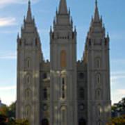 Mormon Temple Fall Art Print