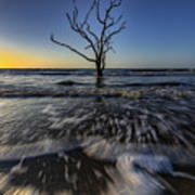 Morning At Botany Bay Plantation Art Print