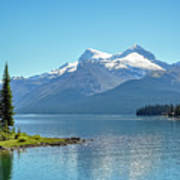 Morning At Lake Maligne, Canada Art Print
