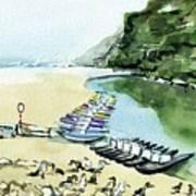 Morning At Porto Novo Beach Art Print