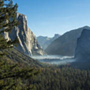 Morning At Tunnel View Art Print