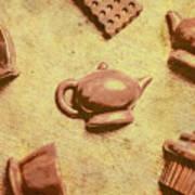 Morning Breakfast Chocolate Tea Set  Art Print
