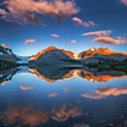 Morning Colors At Ice Field Center Art Print