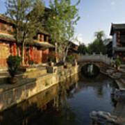 Morning Comes to Lijiang Ancient Town Art Print