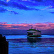 Morning Ferry Art Print