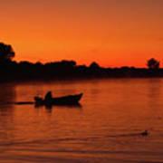 Morning Fishing On The Lake Art Print