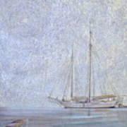 Morning Fog At Wooden Boat Maine Art Print