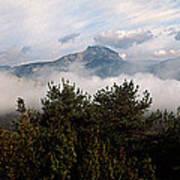 Morning Fog In Autumn In The Verdon Art Print