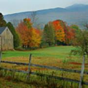Morning Grove - New England Fall Monadnock Farm Art Print