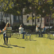 Morning In Bryant Park Two Art Print
