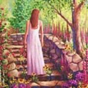 Morning In Her Garden Art Print
