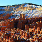 Morning Light At Sunset Point In Bryce Canyon Art Print