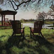 Morning Light At The Vineyard Florence Texas Art Print