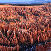 Morning Light In Bryce Canyon Art Print