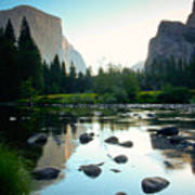 Morning Light On El Capitan Art Print