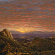 Morning Looking East Over The Hudson Valley From The Catskill Mountains Art Print