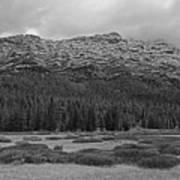 Morning Mountains In Yellowstone Art Print