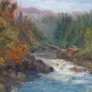 Morning Muse - Original Contemporary Impressionist River Painting Art Print