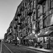 Morning On River Street In Black And White Art Print