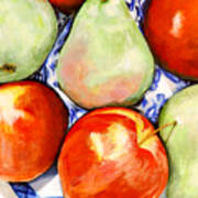 Morning Pears and Apples Art Print