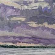 Morning Rain Clouds Art Print