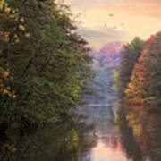 Morning River View  Art Print