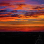 Morning Sky Over Washington D C Art Print