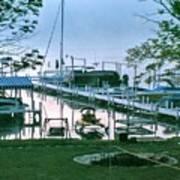 Morning Stillness In Williams Bay, Wi Art Print