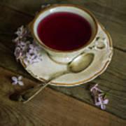 Morning Tea With Lilacs Art Print