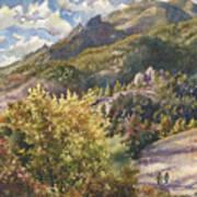 Morning Walk At Mount Sanitas Art Print
