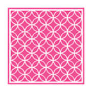 Moroccan Endless Circles I With Border In French Pink Art Print