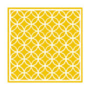 Moroccan Endless Circles I With Border In Mustard Art Print