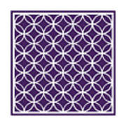 Moroccan Endless Circles I With Border In Purple Art Print