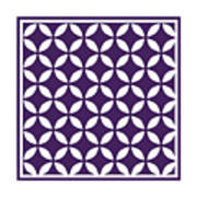Moroccan Endless Circles II With Border In Purple Art Print