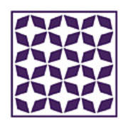 Moroccan Inlay With Border In Purple Art Print