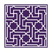 Moroccan Key With Border In Purple Art Print