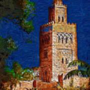 Morocco Pavilion In Epcot Art Print