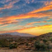 Morongo Valley Sunset Art Print