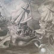 Morphological Echo At Sea Art Print