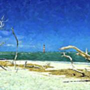 Morris Island Lighthouse 2 Art Print