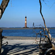 Morris Island Lighthouse Charleston Sc Art Print