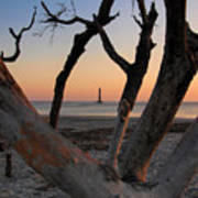 Morris Island Lighthouse Sunrise 2 Art Print